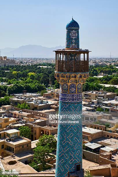 iran, isfahan, cityscape - isfahan stad stockfoto's en -beelden