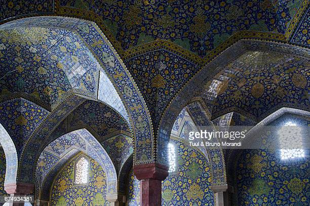 iran, isfahan, friday mosque - unesco world heritage site stock pictures, royalty-free photos & images