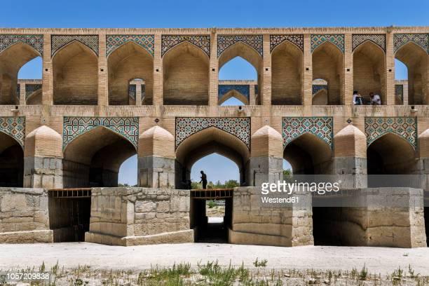 iran, isfahan province, isfahan, si-o-se pol bridge - ハージュ橋 ストックフォトと画像
