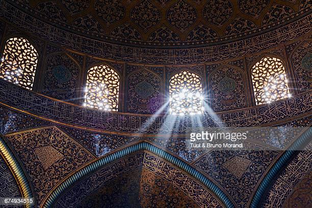 iran, isfahan, sheikh lotfollah mosque - シェイフロトフォラモスク ストックフォトと画像