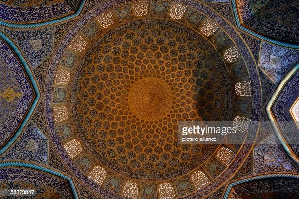 Iran, Isfahan: The colourful dome of the Sheikh Lotfollah Mosque on Imam Square in the Iranian city of Isfahan, taken on . Photo: Thomas...