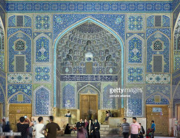 Iran, Isfahan: The entrance portal of the Sheikh Lotfollah Mosque on Imam Square in the Iranian city of Isfahan, taken on . Photo: Thomas...