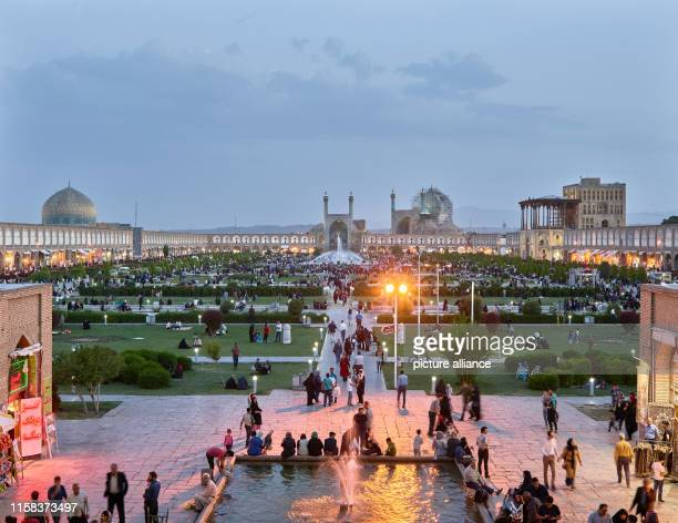 Iran, Isfahan: The Imam Square in the Iranian city of Isfahan with the Sheik Lotfollah Mosque, the Imam Mosque and the Ali Qapu Gate Palace , taken...
