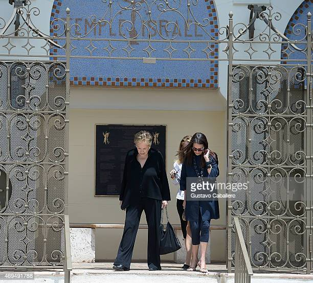 Iran Issa Khan attends Dr Fredric Brandt Memorial Service at Temple Israel on April 12 2015 in Miami Florida