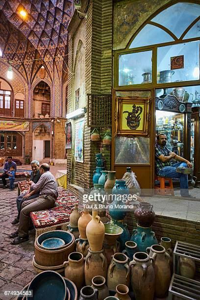 iran, kashan, the bazaar - isfahan stock-fotos und bilder