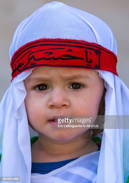 Iran Lorestan Province Khorramabad an iranian shiite boy during tasua celebrations one day before ashura