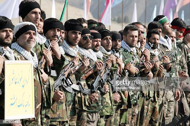 Iran marks the anniversary of the foundation of the Basij mobilization following the election of Iran's new President Mahmoud Ahmadinejad, a former...
