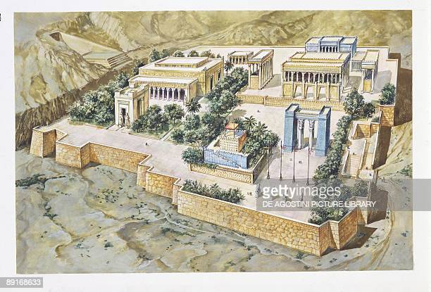 Iran Persia Reconstruction of Persepolis illustration