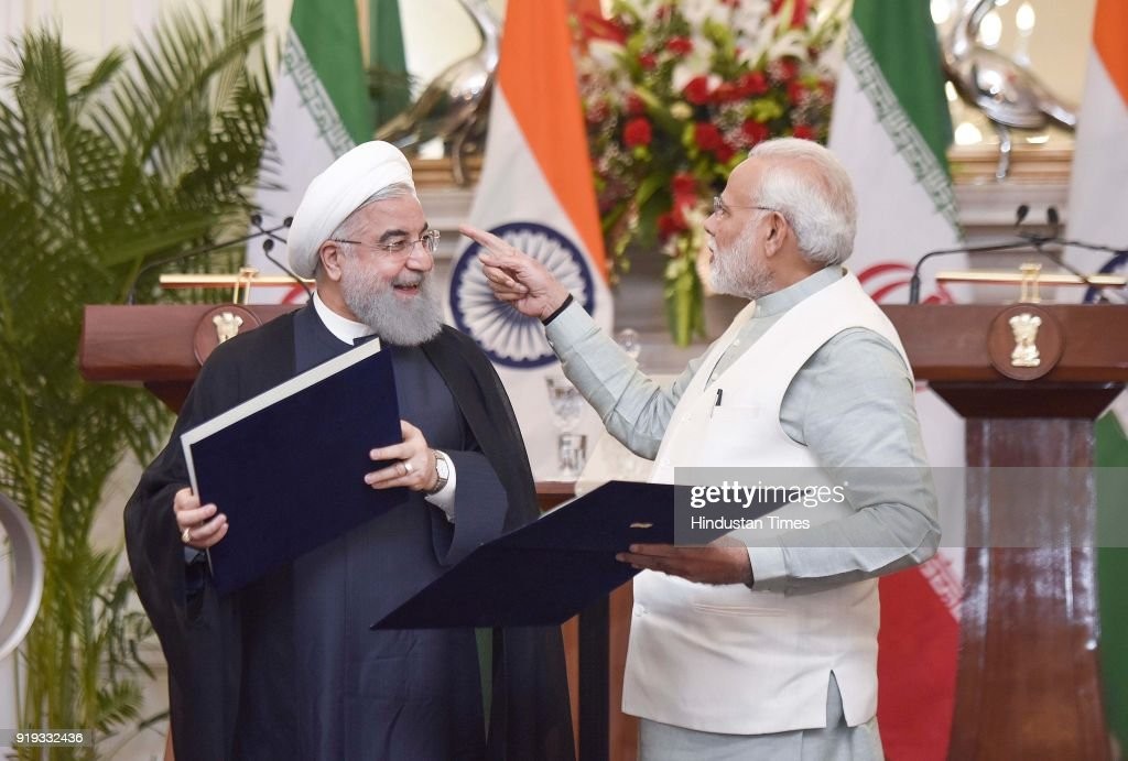 PM Narendra Modi Meets Iran President Dr. Hassan Rouhani At Hyderabad House, Sign 9 Agreements