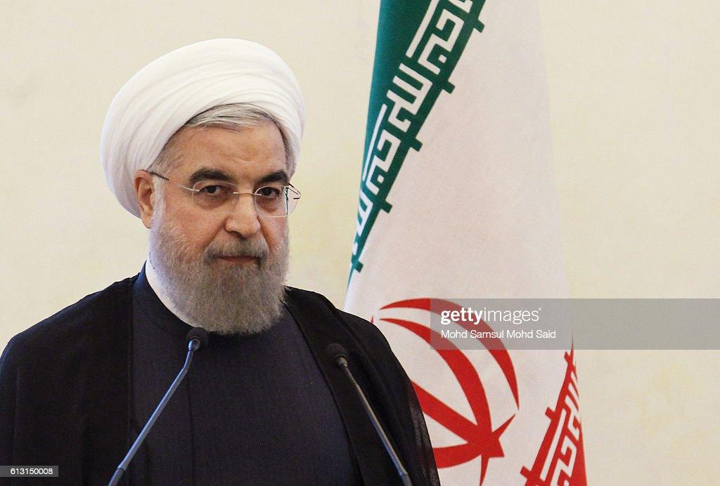 Iran President Hassan Rouhani Visits Malaysia : Fotografía de noticias