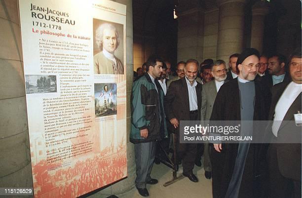 "Iran president Khatami at ""Patheon"" in Paris, France on October 28, 1999."