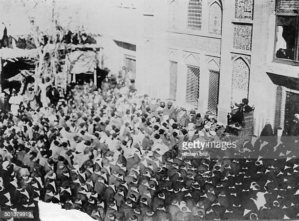 Iran Sermon of a Shiite cleric in the mosque believers listening probably in the 1910s