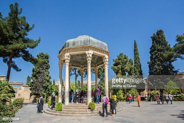 Iran Shiraz City Aramgahe Hafez Mausoleum and gardens