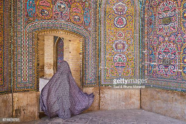 iran, shiraz, nasir al molk mosque - iranian culture stock photos and pictures