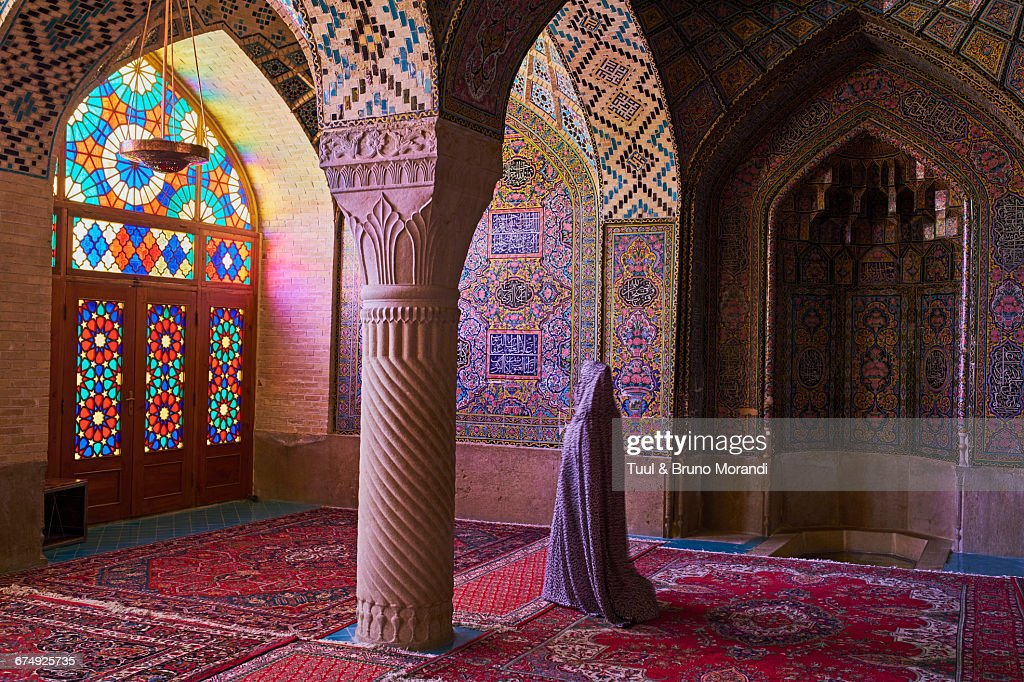Nasir al-Mulk in Shiraz, Iran, is known as the Pink Mosque for the use of pink tiles throughout its interior