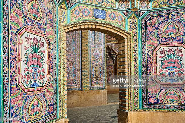 iran, shiraz, nasir al molk mosque - shiraz stock pictures, royalty-free photos & images