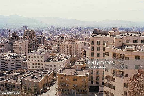 Iran, Tehran, skyline and residential apartments in north of city