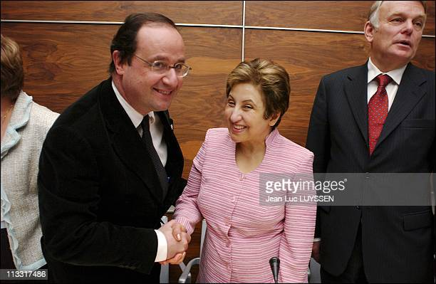 Iranian 2003 Nobel Peace Laureate Received By The Socialist Parliamentary Group At The French National Assembly On March 9Th 2005 In Paris France...