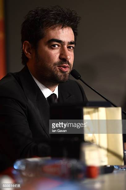 Iranian actor Shahab Hosseini winner of the award for Best Actor for the movie 'The Salesman' during the Palme D'Or Winner Press Conference during...