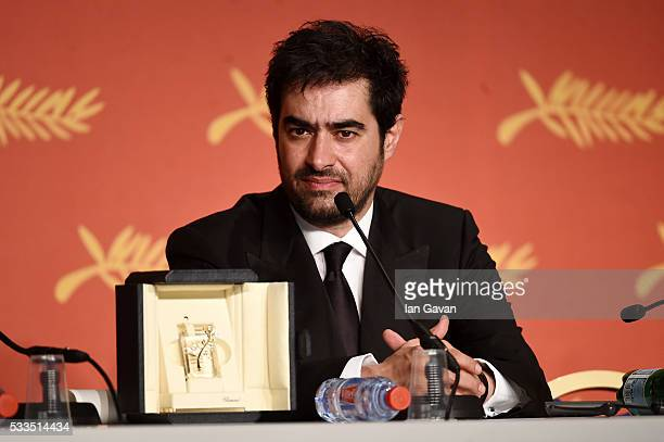 Iranian actor Shahab Hosseini winner of the award for Best Actor for the movie 'The Salesman' speaks during the Palme D'Or Winner Press Conference...