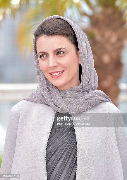 Iranian actress and member of the Feature films Jury Leila Hatami poses during a photocall at the 67th edition of the Cannes Film Festival in Cannes...