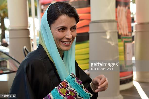 Iranian actress and member of the Feature films Jury Leila Hatami smiles as she arrives at the Grand Hyatt Cannes Hotel Martinez on the eve of the...
