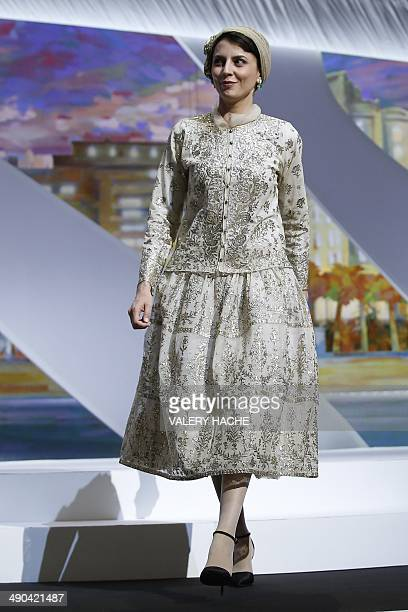 Iranian actress and member of the Feature films Jury Leila Hatami arrives on stage during the Opening Ceremony of the 67th edition of the Cannes Film...