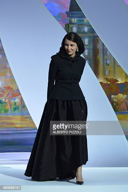 Iranian actress and member of the Feature films Jury Leila Hatami arrives on stage during the Closing Ceremony of the 67th edition of the Cannes Film...