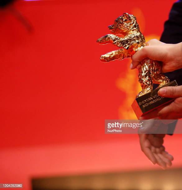 """Iranian actress Baran Rasoulof winner of the Golden Bear for Best Film for the film """"There Is No Evil""""poses during the Award..."""