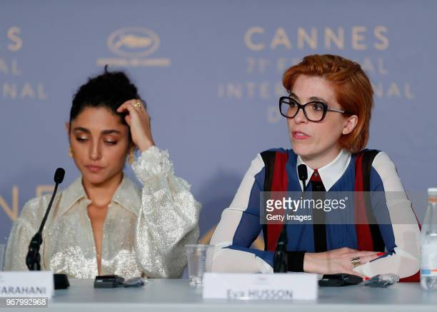 Iranian actress Golshifteh Farahani and French director Eva Husson attends the press conference for 'Girls Of The Sun ' during the 71st annual Cannes...