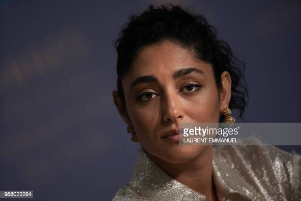 Iranian actress Golshifteh Farahani attends on May 13 2018 a press conference for the film 'Girls of The Sun ' at the 71st edition of the Cannes Film...