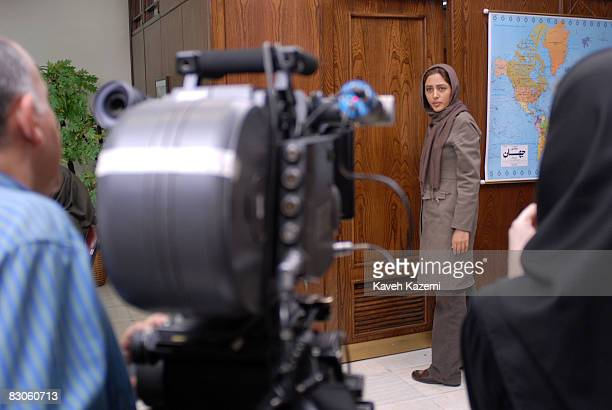 Iranian actress Golshifteh Farahani during rehearsals for a new movie directed by Kamal Tabrizi, in Tehran, 10th March 2007.