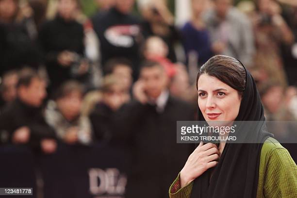 Iranian actress Leila Hatami arrives for the screening of the movie Drive on the second day of the 37th American Film Festival in Deauville...