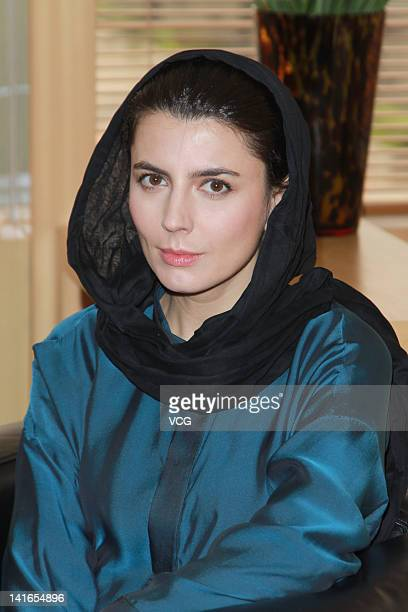 Iranian actress Leila Hatami attends a press conference after the 6th Asian Film Awards on March 20 2012 in Hong Kong Hong Kong