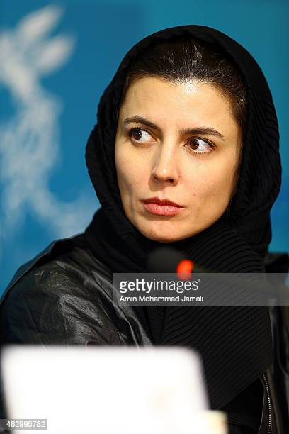 Iranian actress Leila Hatami attends a press conference as part of the 33rd Fajr International Film Festival on February 8 2015 in Tehran Iran