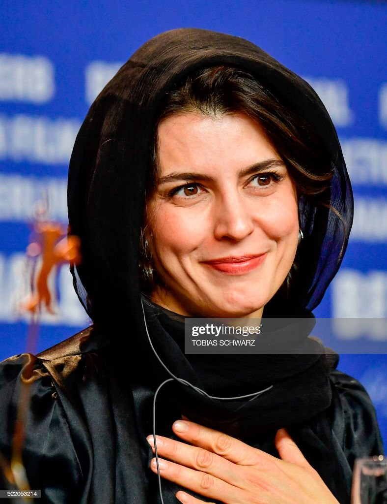 Iranian actress Leila Hatami attends a press conference to present the film 'Pig' (Khook) presented in competition during the 68th edition of the Berlinale film festival in Berlin on February 21, 2018. / AFP PHOTO / Tobias SCHWARZ
