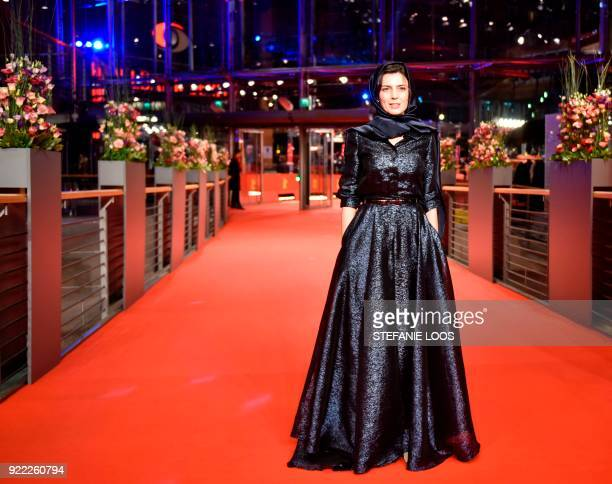 TOPSHOT Iranian actress Leila Hatami poses on the red carpet before the premiere of the film 'Pig' presented in competition during the 68th edition...
