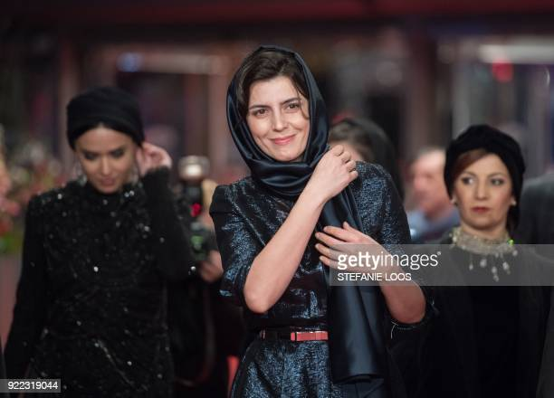 Iranian actress Leila Hatami poses on the red carpet before the premiere of the film 'Pig' presented in competition during the 68th edition of the...