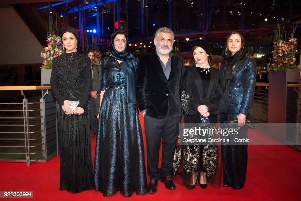 Iranian actress Parinaz Izadyar Iranian actress Leila Hatami Iranian producer Mani Haghighi Iranian actress Leili Rashidi attend the 'Pig' premiere...