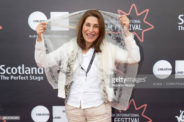 Iranian actress Simin MotamedArya attends a photocall during the 72nd Edinburgh International Film Festival at Cineworld on June 21 2018 in Edinburgh...