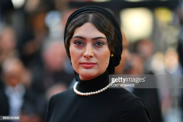 Iranian actress Soudabeh Beizaee poses as she arrives on May 27 2017 for the Un Certain Regard prize ceremony at the 70th edition of the Cannes Film...