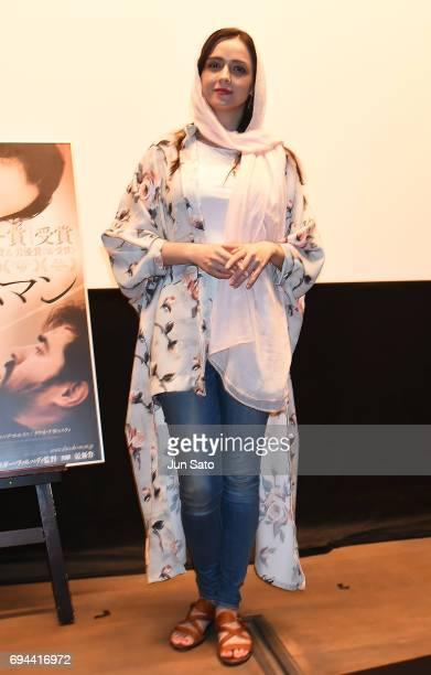 Iranian Actress Taraneh Alidoosti attend the 'Forushande' Stage Greeting at Bunkamura Le Cinema on June 10 2017 in Tokyo Japan