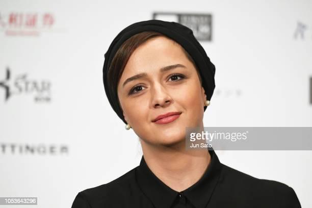 Iranian actress Taraneh Alidoosti attends the Jury Press Conference at Roppongi Hills on October 26 2018 in Tokyo Japan