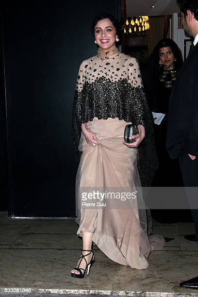 Iranian Actress Taraneh Alidoosti leaves the Majestic Hotel during the 69th Annual Cannes Film Festival on May 21 2016 in Cannes
