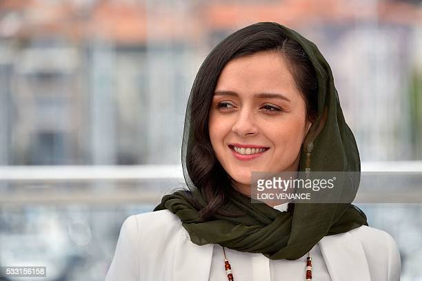 Iranian actress Taraneh Alidoosti poses on May 21 2016 during a photocall for the film The Salesman at the 69th Cannes Film Festival in Cannes...