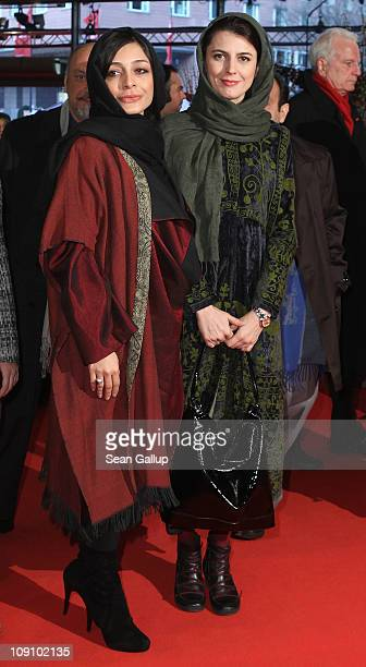 Iranian actresses Sareh Bayat and Leila Hatami attend the 'Jodaeiye Nader Az Simin' Premiere during day six of the 61st Berlin International Film...