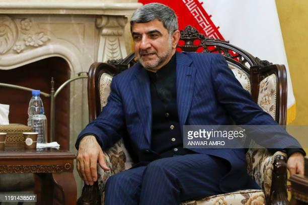 Iranian Ambassador to Lebanon Mohammad Jalal Firouznia receives condolences at the Iranian embassy in the Lebanese capital Beirut on January 3...