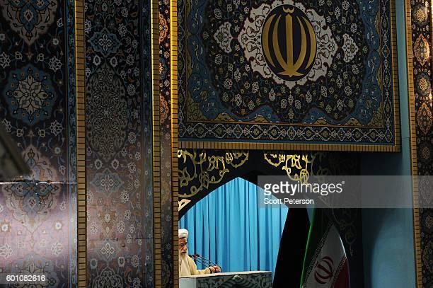 Iranian Ayatollah Ahmad Jannati leads Friday prayers before an antiSaudi Arabia street rally to mark the oneyear anniversary of more than 460...