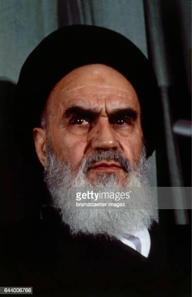 Iranian Ayatollah Khomeini. Portrait. Photograph. 1979. Photograph.