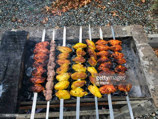 iranian chicken kabab - iranian culture stock pictures, royalty-free photos & images